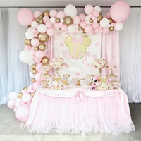 Wholesale balloons arches resale online - 97pcs Set Pastel Pink Balloon Garland Arch Kit Anniversary Birthday Party Decorations Ballon Adult Baby Shower Girl Decor S8xn sqcweb