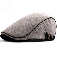 HT1578 2020 New Spring Summer Men Women Hat Fashion Western Style Duckbill Ivy Flat Cap Hat Adjustable Cotton Newsboy Beret Cap