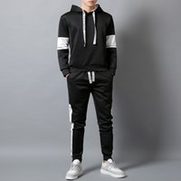 Wholesale Mens Active Tracksuits Fashion Letters Hooded Two Pieces Outfits New Autumn Boys Hiphop Streetwear Tracksuit Hoodies Joggers
