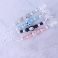 Wholesale cute pacifiers for babies for sale - Group buy For Nipple Pendant Silicone Chain Animal Baby Pacifier Shower Free Bpa Holder Gift Clips Infant Cute sqcpGs pingtoy