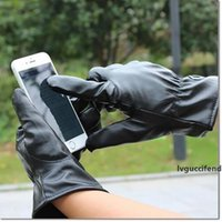 Wholesale driving gloves resale online - New leather multi unisex outdoor winter driving PU leather gloves touch screen Gloves fashion Keep warm gloves