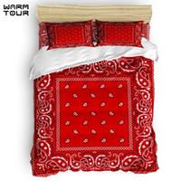 Wholesale boho bedding for sale - Group buy WARMTOUR Duvet Cover Paisley Bandana Red Southwestern Boho Duvet Cover Set Piece Bedding Set For Beds
