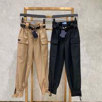 Fashion Women Cargo Pants Without Belts Women Casual Long Pants Black Khaki Cool Streetwear with Pockets Size M L XL