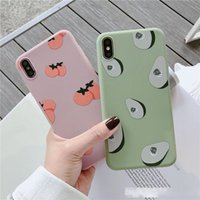 Wholesale persimmon fruit resale online - Summer Fruits avocado persimmon Phone Case For iphone X XS XR XS Max S Plus Green Soft TPU Back Cover Gift