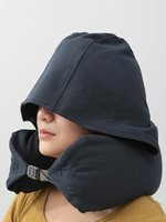 Wholesale multifunctional hat resale online - free DHL UPS U shaped pillow with a hat to protect the neck nap pillow Travel Portable Travel Pillow Muji multifunctional hat shading