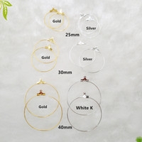 Wholesale screw loop resale online - 30pcs Metal Making Accessories Rhodium Copper Clip on Earring Clasps Hooks Findings with Loop Clasp Round Base for Diy