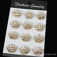 Wholesale wedding cake brooches for sale - Group buy Stunning Crystal Fashion Gold Alloy Small Crown Brooch Hot Selling Cake Pins Brooches Decoration Exquisite Wedding Jewelry Pins