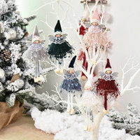 wholesale elf decor 2021 - Merry Christmas Swedish Santa Gnome Plush Angel Doll Ornaments Handmade Elf Toy Holiday Home Party Decor Christmas Decorations