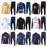 Wholesale grey jogging suit for sale - Group buy 20 mens football tracksuit soccer training suit jacket men training survetement foot chandal futbol tuta jogging