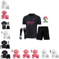 Wholesale real football fans resale online - fans version REAL MADRID jersey HAZARD SERGIO RAMOS soccer jersey BENZEMA VINICIUS camiseta football jersey adult kids kit socks
