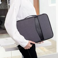 Wholesale travel accessories passport holder for sale - Group buy Multi functional Document Bags Portable Waterproof Men s Briefcases Laptop Notebook Pouch Travel Passport Holder Accessories LJ200930