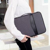 Wholesale travel accessories passport resale online - Multi functional Document Bags Portable Waterproof Men s Briefcases Laptop Notebook Pouch Travel Passport Holder Accessories LJ200930
