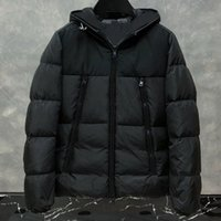 Wholesale men hats styles resale online - Mens Down Jacket Coats Winter embroidery jacket Top Quality Men Women Winter Casual Outdoor Warm Feather Outwear Keep warm classic style