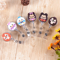 Wholesale superman bottle for sale - Group buy Hot Sales High Quality Acrylic Retractable Nurse Badge Reel Clip Cartoon Cat Melody Superman ID Card Badge Holder