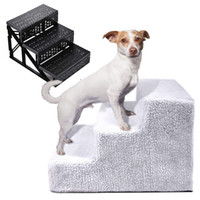 Wholesale small steps for sale - Group buy 3 Steps Puppy Dogs Bed for Small Dog Cat Ramp Ladder Portable up to kg Pet Stairs Anti slip Supplies