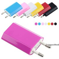 Wholesale sumsung chargers online – 5V A mah Colorful EU US Plug USB Home Wall Charger AC Power Adapter for iPhone Sumsung Cell Phone Free DHL
