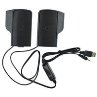 Wholesale mini plastic clip mp3 player resale online - 1 Pair Mini Portable Clipon USB Stereo Speakers line Controller Soundbar for Laptop Mp3 Phone Music Player PC with Clip