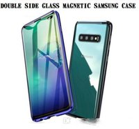 Wholesale magnetic sheeting for sale - Group buy Anti knock Strong Magnetic Double side Tempered Glass Sheet Case For Samsung Galaxy A50 A60 A70 S8 S9 Plus Note Note S10 S10e