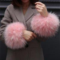 Wholesale wrist fur cuff for sale - Group buy Autumn and winter women s Large cuff oversleeps hand ring fur wrist support faux oversleeps hand ring fox fur arm warmer