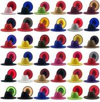 Men Fedora Hats Women Jazz panama Caps Ladies Wide brim Cap Patchwork Hat mens Girls Trilby Chapeau Man Woman Spring Autumn Winter gift wholesale 2021