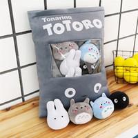 Totoro corner creature a bag of snack pillow animal crossing plush stuffed animals creative doll juguetes plush toy sofa cushion 201021