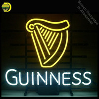 Wholesale beer christmas lights for sale - Group buy NEON SIGN GUINNE IRISH LAGER ALE HARP Signboard REAL GLASS BEER BAR PUB Shop Club display christmas Light Signs Art lamp