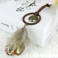 Wholesale best china ornaments for sale - Group buy Best Quality Enchanted Forest Mini Dreamcatcher Handmade Dream Catcher Net With Feather Decoration Car Keychain Ornament Diameter