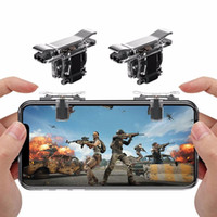 Wholesale shooting game mobile resale online - T10S PUBG Controller Game Gamepad Joystick L1 R1 Metal Trigger Button Free Fire Shooting Gamepad For Android Mobile Phone