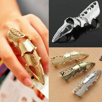 Wholesale punk rock knuckle ring for sale - Group buy 2020 NEW Cool Women Girls Punk Gothic Rock Scroll Joint Armor Knuckle Metal Full Finger Rings Gold Cospaly DIY Rings