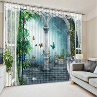 Wholesale roman shades resale online - Top Classic D European Style roman custom curtain fashion decor home decoration for bedroom
