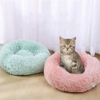 Wholesale best white bedding resale online - New Plush Cat Bed House Soft Long Plush Best Pet Dog Bed For Dogs Products Nest Winter Warm Sleeping Cat Pet Mat House