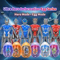 Wholesale Altman Surprise Ball Transformation Robot Ultraman Kaiju Monster Eggs Toys Action Figure Children Deformation Toys Christmas Gifts