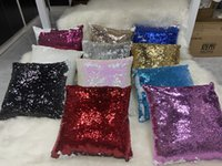 Free shippping 10pcs Lot 16x16 inch New Arrival Sublimation Sequin Pillow Case For Hotel Bed Decoration