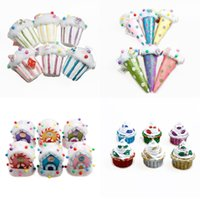 Wholesale christmas ice cream cake for sale - Group buy Christmas Decorations Pendant Christmas Tree Ornaments Colorful Foam Cake Ice Cream Candy House Pendant DH0135 T03
