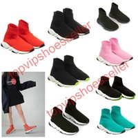 Wholesale childrens sneakers for sale - Group buy 2020 Sell Childrens Kid Sock shoes Vetements crew Sock Runner Trainers Shoes Kids Shoes Hight Top Sneakers Boot Eur