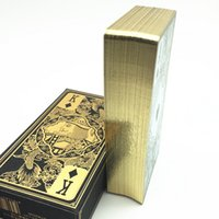 Wholesale High Quality Waterproof Transparent Plastic Poker Gold Edge Playing Cards Dragon Card Game Collection Gift L412