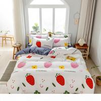 Wholesale queen bedset resale online - Refreshing Series Bedding Set Double Single Winter Duvet Cover Set Bedsheet Pillowcaes Bed Clothes Flower Bedset King Size