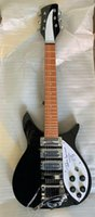 Wholesale electric guitar 325 resale online - customized special offer rickenbackr type short black electric guitar mm top quality
