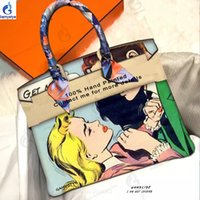 Wholesale new pop art painting for sale - Group buy ART POP Girls Cry Girl handmake new fashion art Hand painted Art oil painted bags Retro POP cry girls Wonder Girl Leather