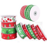 Wholesale ribbon style christmas lights resale online - hot sale Christmas decorations festive supplies ribbons Christmas Ribbon Christmas tree fawn snowflake ribbon style optional GWE1953
