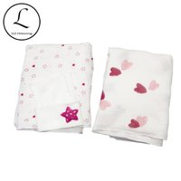 Wholesale girls bedding sets for sale - Group buy Muslin Newborn Baby Photography Props Blankets Swaddles Hat Set Girls Soft Swaddle Wrap Organic Cotton Bedding Towel Swaddle Y201009