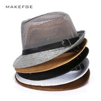 Wholesale fedora hat mens fashion for sale - Group buy cuban style hats Fashion Mens Summer Jazz Hat Breathable Casual Floppy Jazz Hat for Men and Women Popular Black Fedora Cap