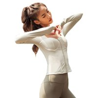 Wholesale Women s Sport Top High Elastic Zipper Outdoor Sports Jacket Long Sleeve Yoga Top Yoga Jacket Running Outer Fitness Sportwear