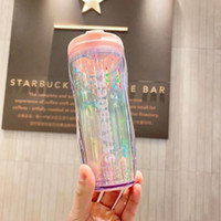 Wholesale pounds cups for sale - Group buy Newest Starbucks Valentine s Day coffee cup Tumbler oz bling bling Moon Stars Sequins dazzle out dooor sport Accompanying cup