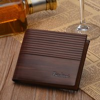 Wholesale credit card embossing resale online - Man Embossing Wallet Pocket Credit Card Clutch Bifold Purse Mens Money Purses Wallets Drop Shipping