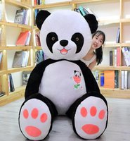 Wholesale big panda pillow resale online - 60cm cm Cute Big Panda Doll Plush Toy Animals Pillow Kids Birthday Christmas Gifts Cartoon Toys Big Pillow Cushion wmtqDP infant2005