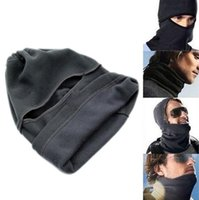 Wholesale thermal face mask for winter resale online - Motorcycle Face Winter Fleece Cover Balaclava Neck Face Full Windproof Mask Unisex Cap Mask Thermal For Ski Unisex Hat Fleece Wint Cjprs