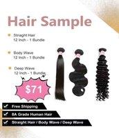 Wholesale sample hair bundles for sale - Group buy 3PCS Virgin Human Hair Bundles Sample Within Different Texture Different Hair Quality Bundles Sample