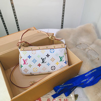 Wholesale beach flowers for sale - Group buy Newset Women Cluth Chain Bags Real Leather Wallet Card Crossbody Purse Women Shoulder Messenger Flap Handbag Meal accessories with long shou