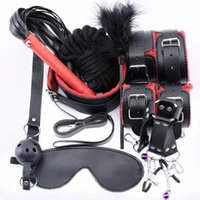 Wholesale women lingerie rope resale online - Bondage Toys Adults Leather Plush Mask Sex Sex Whip Blindfold Rope BDSM Erotic Handcuffs Women For Lingerie Sexy Set T200813 Uvkrk